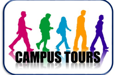 images of different color shadows with campus tours written on front