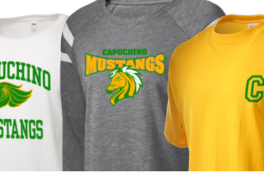 Picture of tshirts with Capuchino Mustang logo