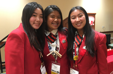 Three FCCLA Student Officers