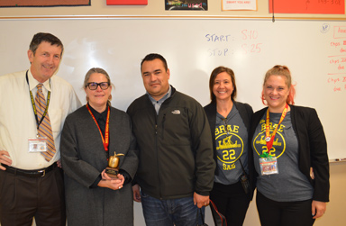 Kelly Alberta with MHS and SMUHSD Staff