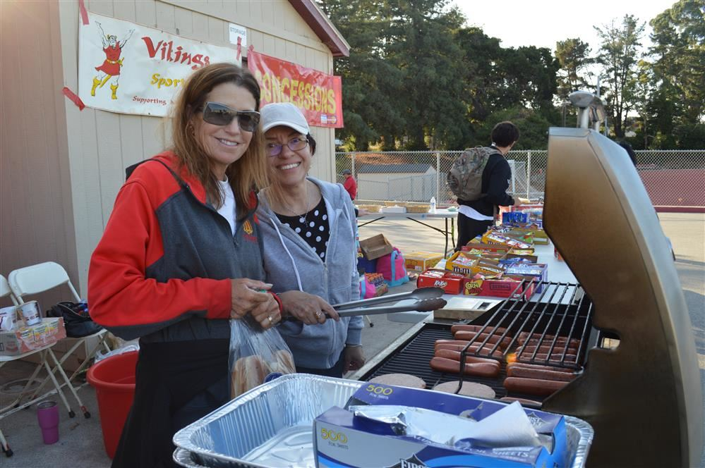 Mills Families Cook Up Some Barbecue for Families and Neighbors at the Stadium Light Celebration
