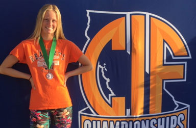 Emma Lepisova Swim CIF Finishes 6th in State