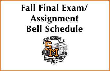 Fall Final Exam/Assignment Bell Schedule