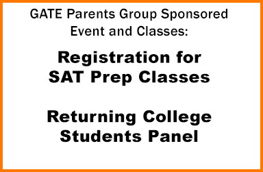GATE Parents Group Sponsored Events and Classes