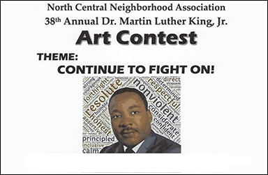 "2021 MLK student artworks ""Continue to Fight On!"""
