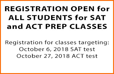 Registration open for SAT and ACT Prep Classes