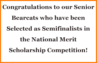 Senior Bearcats Semifinalists in National Merit Scholarship Competition