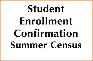 Student Enrollment Confirmation-Summer Census