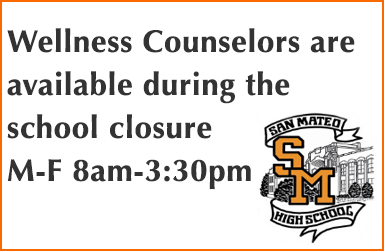 Wellness Counselors are available during the school closure M-F 8am-3:30pm