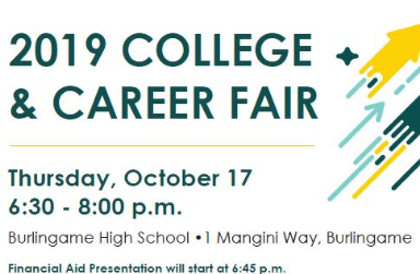 COLLEGE AND CAREER FAIR IS OCTOBER 17