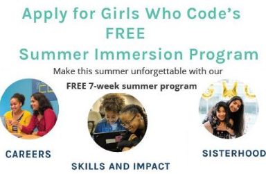 Apply for Girls Who Code's