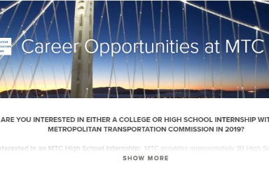 Students: Apply Now for Paid MTC Summer Internship