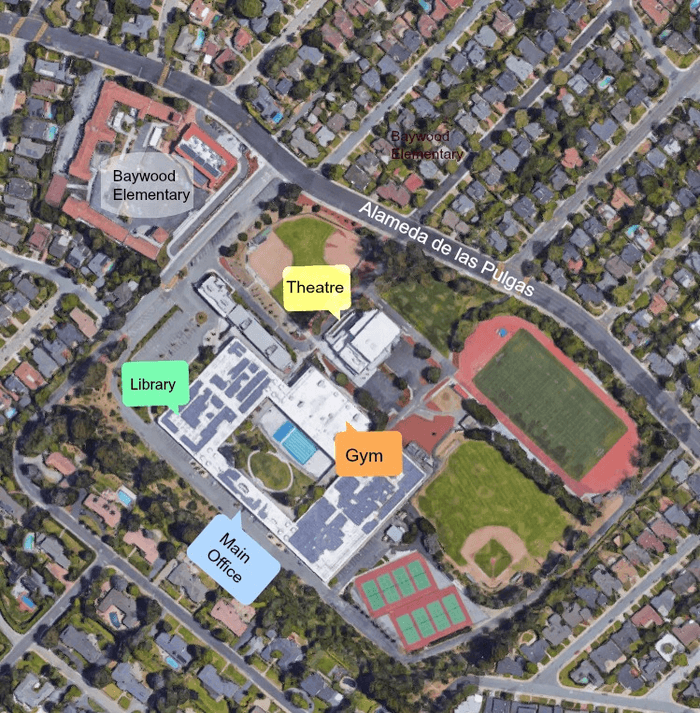 San Mateo High School Campus Map.General Information Maps And Visitor Information