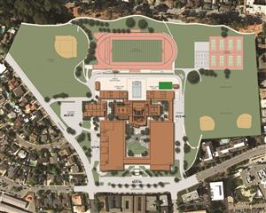 Color Map of Mills Campus