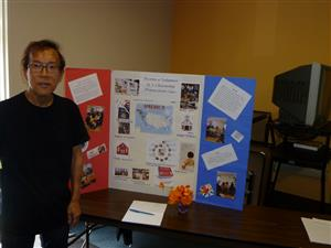 Volunteer Alan with display board