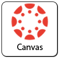 canvas icon in red