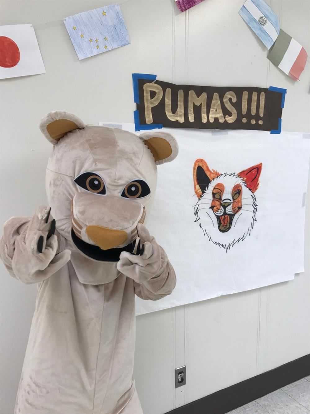 Pruddy the Puma --  the Peninsula High Mascot