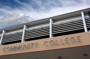 "Building with ""Community College"" lettering"