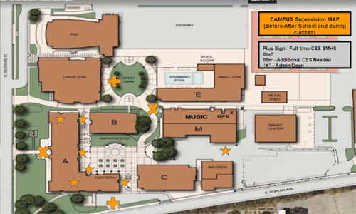 San Mateo High Campus Supervision Map