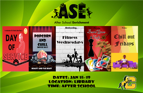 Flyer advertising afterschool enrichment program