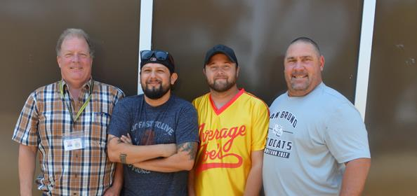 From left, Carl Vernale, Hector Valencia, Justin Doppee and Dale Brewer. Not pictured: John Juris