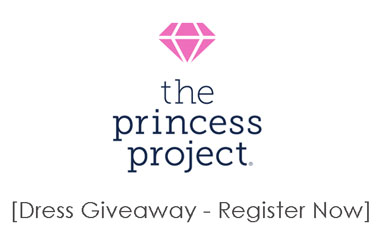 Princess Project logo with drawing of a pink diamond