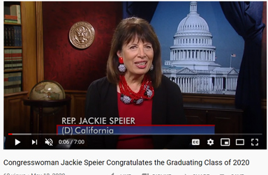 Rep. Jackie Speier's Message to 2020 Grads
