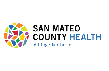 A colorful circle next to text that reads San Mateo County Health , all together better.