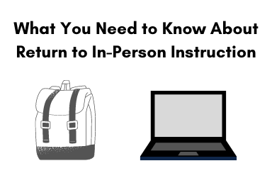 Drawing of a backpack and a laptop with text that reads: What You Need to Know