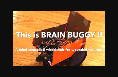 Screen shot of video of the Brain Buggy App
