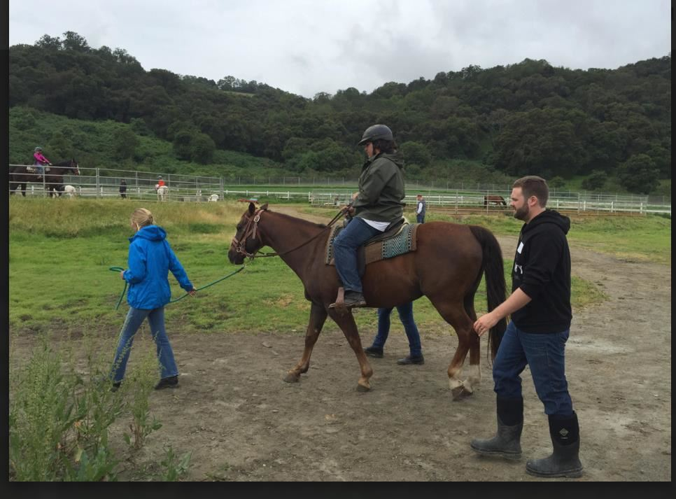 Student learns how to ride horses for emotional release