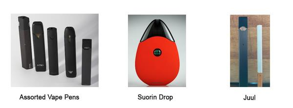Vape Pens Suorin Drop and Juul Pen