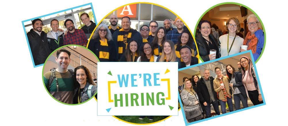 Collage of District employees with text that reads: We are Hiring