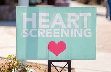 Lawn sign that reads: Teen Heart Screening