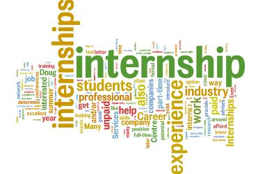 internships word art