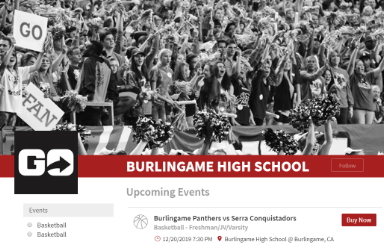 Buy Burlingame Panthers Basketball Tickets NOW! (New info!)