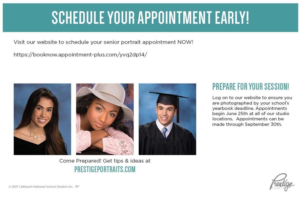 Schedule Your Senior Portraits - Today!