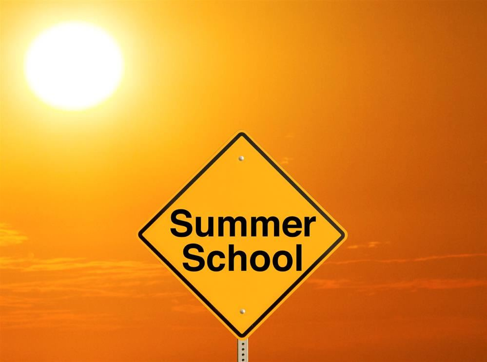 summer school sign